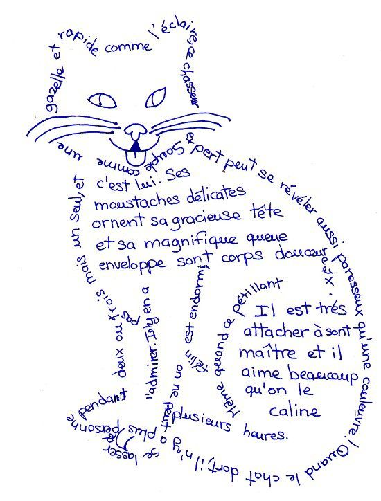 creative Calligrammes by Guillaume Apollinaire