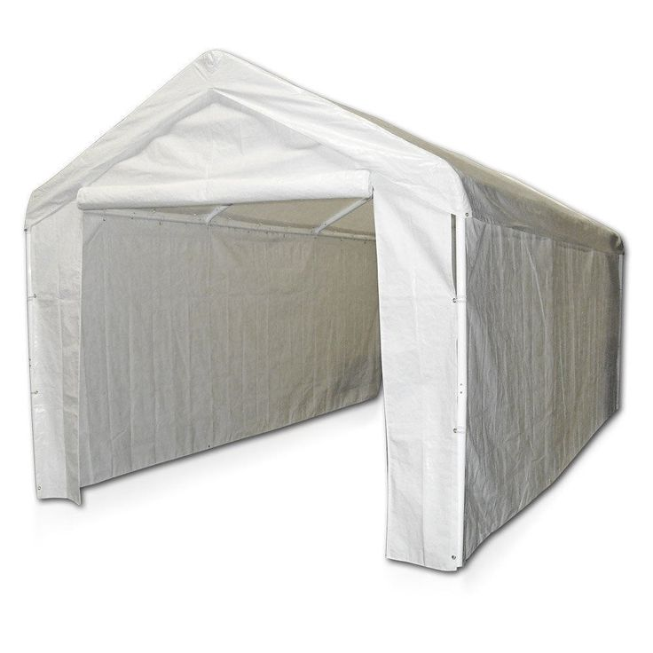 Canopy Garage Side Wall Kit 10x20 Tent Portable Carport Car Shelter White #CaravanCanopy