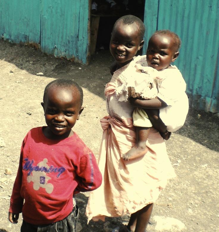 The Mukuru slums of Nairobi, Kenya