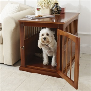 Dog Crate FurnitureGame Rooms, Decor Ideas, Crates Furnituree Lov, Games Room, Dogs Crates Furniture, Dog Crates, Dogs Lovers, Dogs Furniture, Crates Furnituree Heck