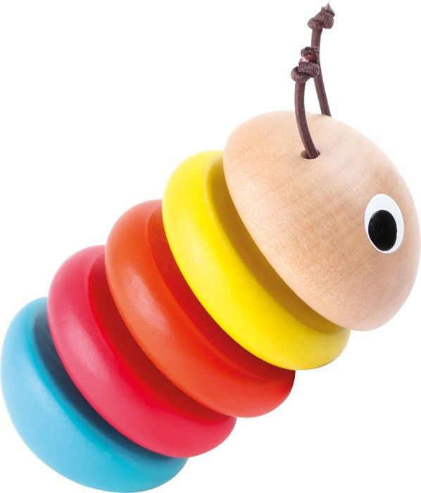 ORUGUITA DE MADERA ELÁSTICA PARA AGARRAR Una pequeña oruguita se arrastra con su cuerpo redondeado. Al ser tan redondeada, se mueve hacia todos lados, y logra permanecer de una pieza gracias a que los discos de madera que la conforman están unidos con una cinta elástica.  #juguetesparabebesmadera http://www.babycaprichos.com/oruguita-de-madera-elastica-para-agarrar.html