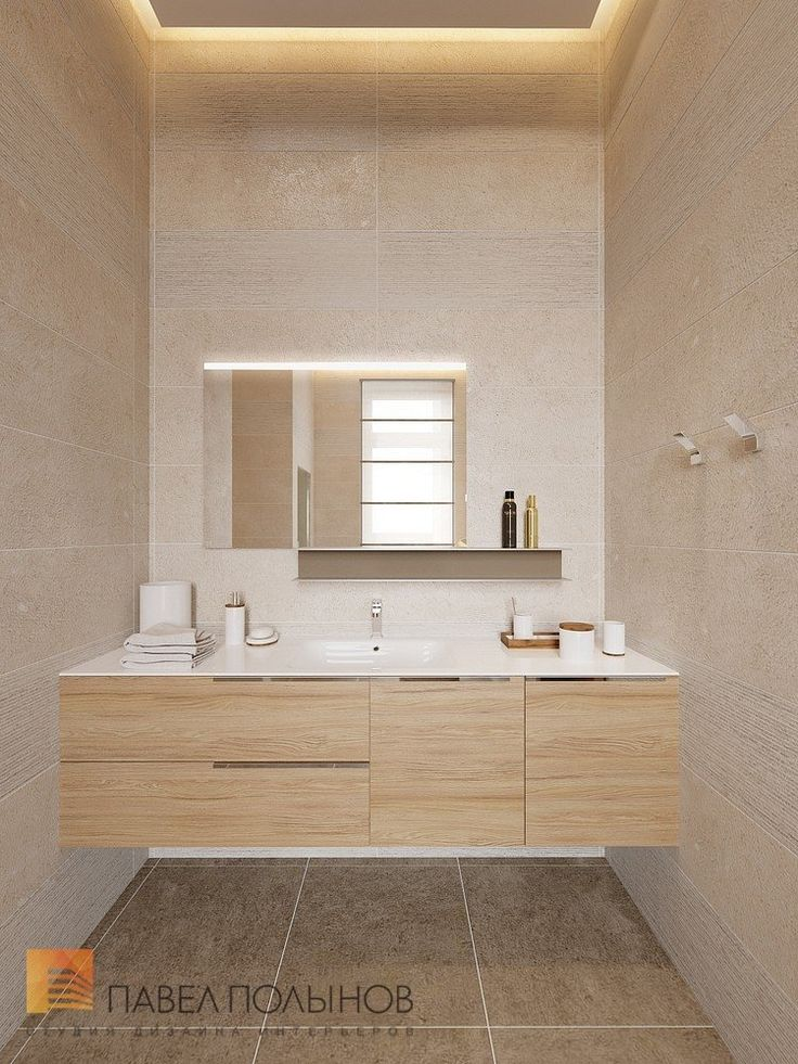 Фото: Интерьер душевой - Интерьер дома в современном стиле, коттеджный поселок «Небо», 272 кв.м.