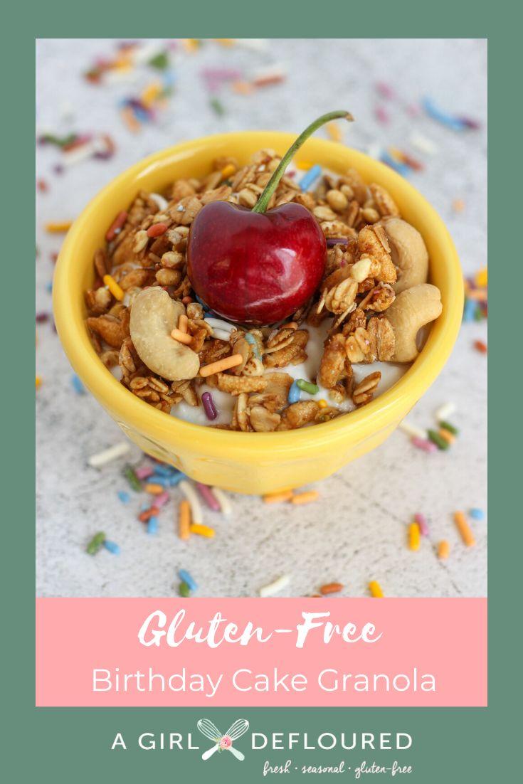 Birthday cake granola recipe in 2020 gluten free