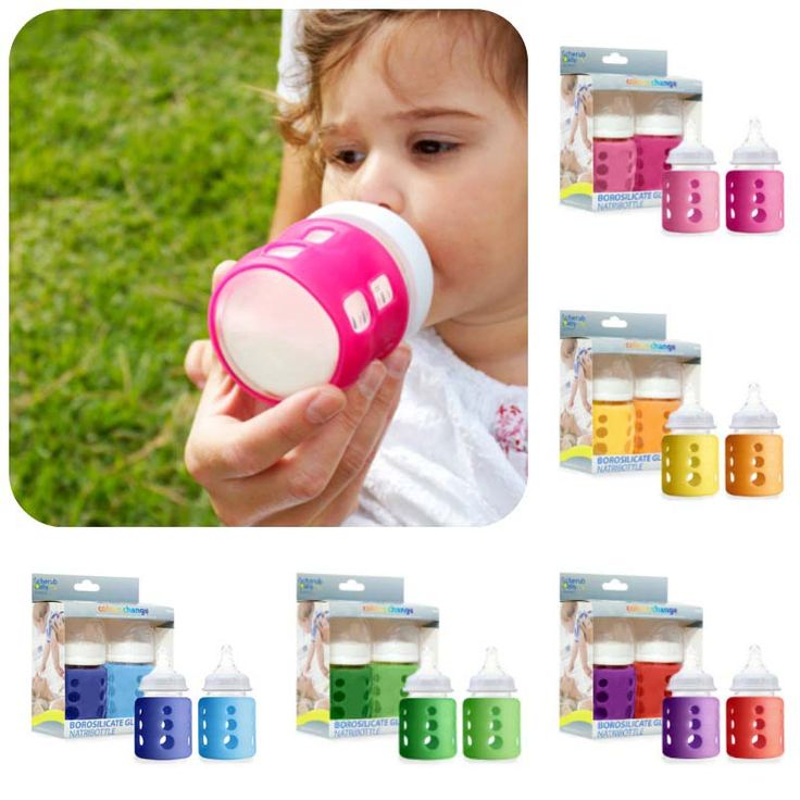 Vibrant colourful sleeves bring the Cherub Baby glass baby bottle to life and makes feeding more fun and enjoyable! Safe, durable and 100% BPA Free