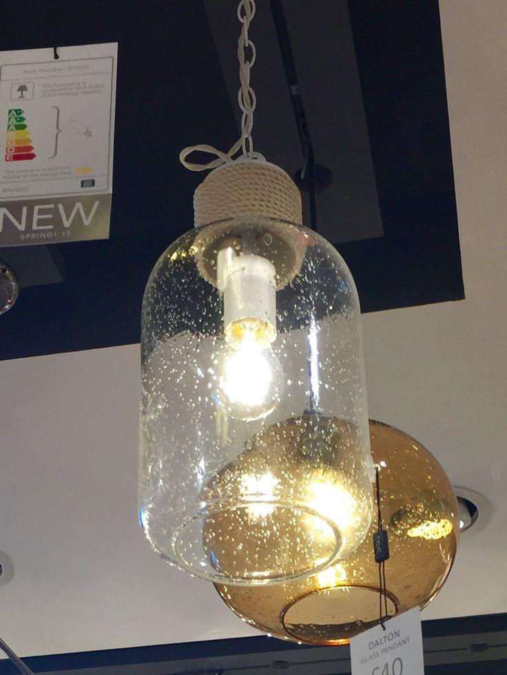 DALTON Glass Pendant light fitting from NEXT £40
