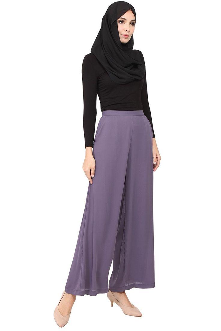 Jairo Flare Pants - Greyish Purple