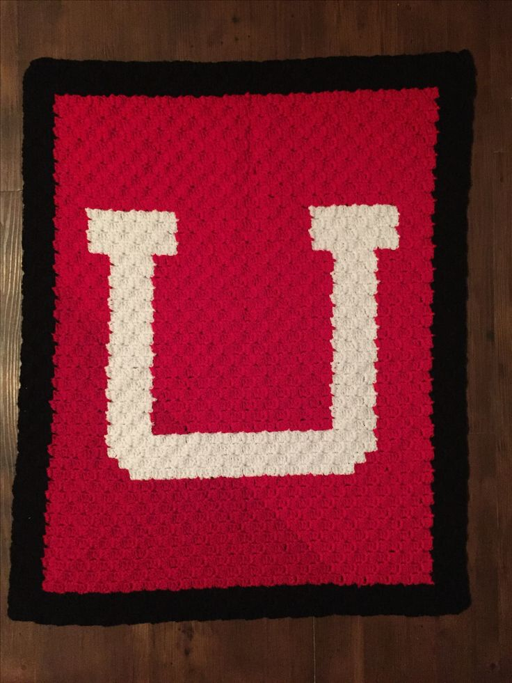 University of Utah afghan (picture only)