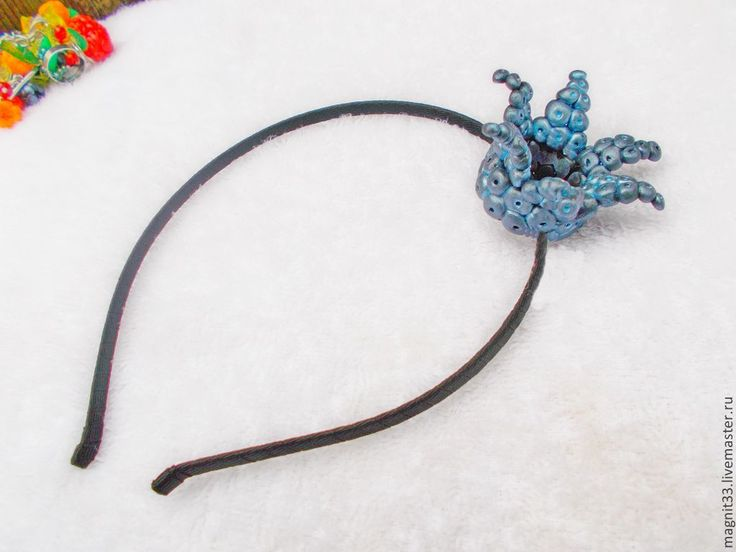 Ободок для волос Принцесса черничных фей. - темно-синий,ободок для волос