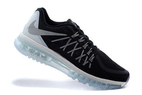 698903-001 Air Max black silver mens running sport shoes 2015