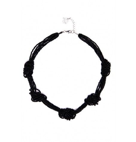 Fun and casual knotted seed bead necklace design. $21
