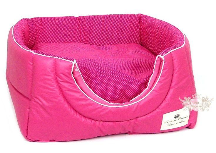 Toca e Cama 2 em 1 - Courino Rosa Pink Estampa de Bolinhas - Micro - Camas - Gatos - Pet Elegante