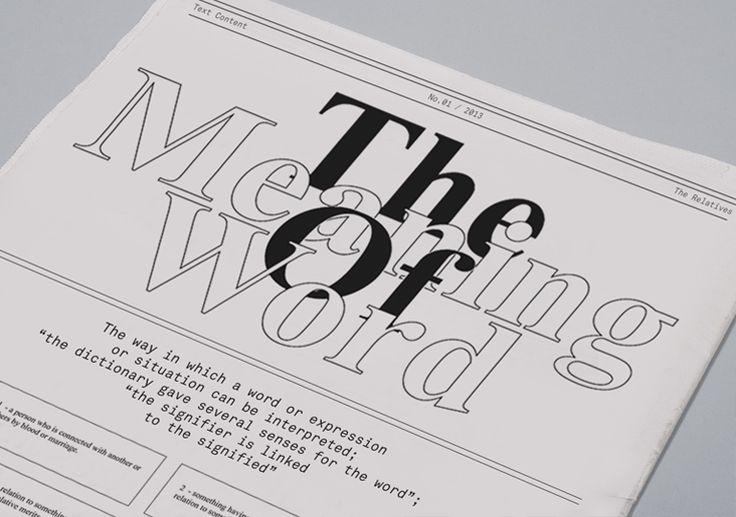 The Relatives - Jozef Ondrik – Graphic Design & Typography