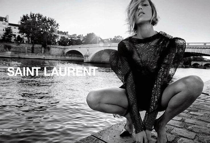 Anja Rubik @anjarubikblog by Inez & Vinoodh @inezandvinoodh for Saint Laurent @YSL Spring 2017 #composition #motion