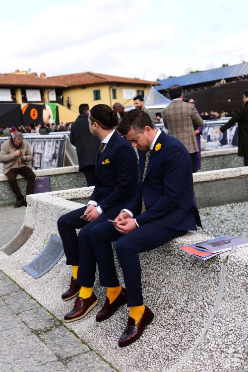 On the scene… Pitti Uomo 89  © thekoreanbarber.com