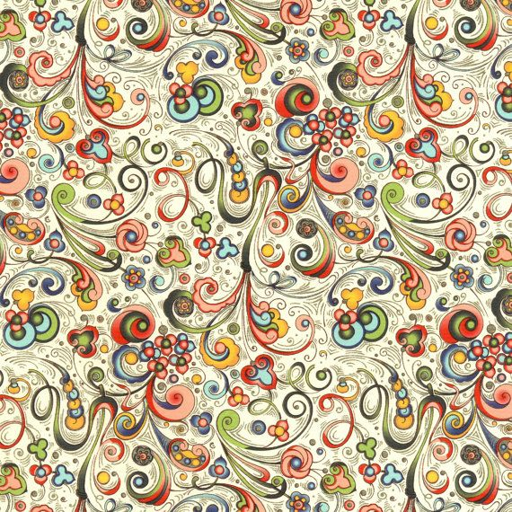 rossi traditional fine decorative paper art nouveau flowers multi - Decorative Paper