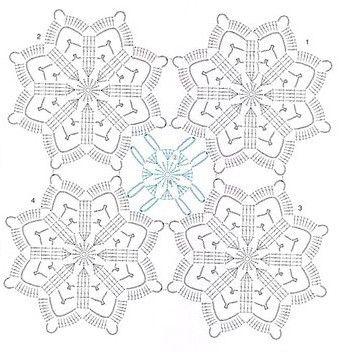 Stern häkeln / crochet star Motiv häkeln - motif crochet 7