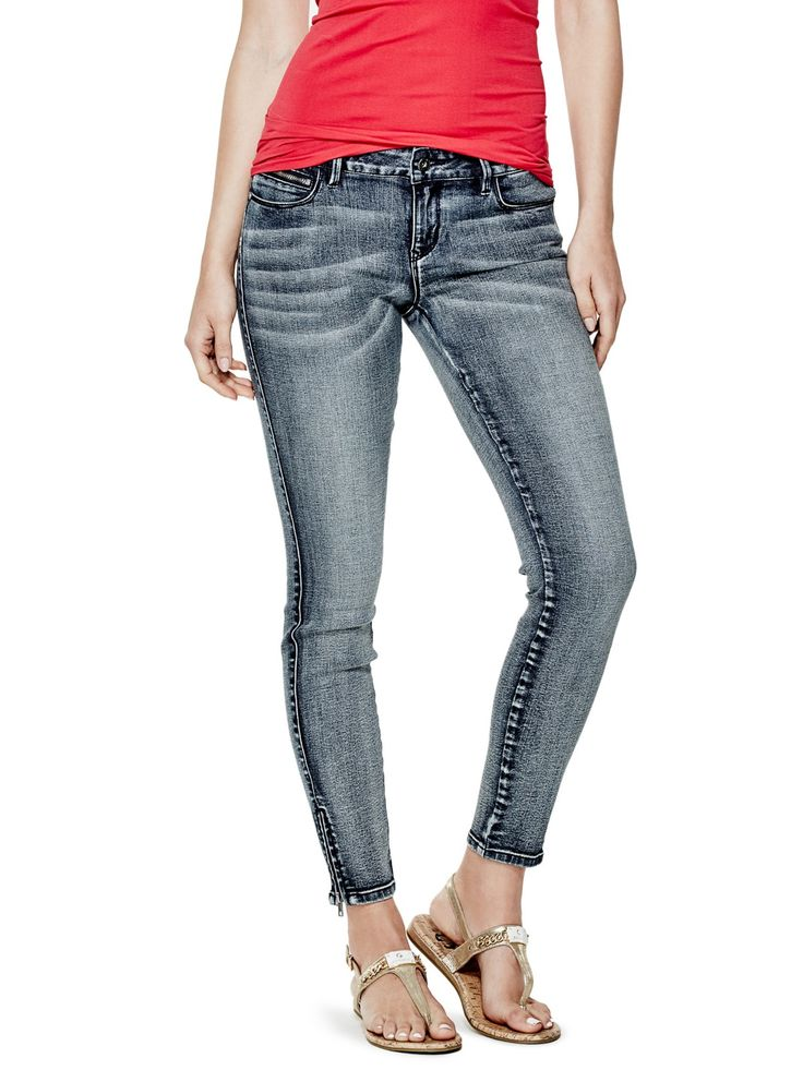 Ida Curvy Ankle-Zip Jeans in Made Wash