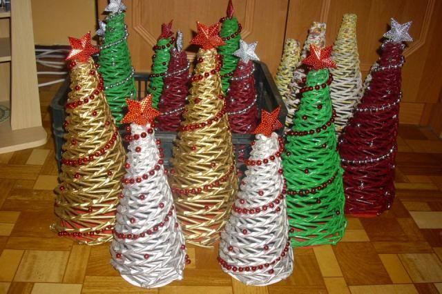 Papierové pletenie: Výroba vianočného stromčeka   Artmama - ručné práce, tvorivé nápady pre mamičky