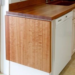 Cherry Wood Countertop With Drainboard By Grothouse   Traditional   Kitchen  Countertops   Sacramento   The Grothouse Lumber Company