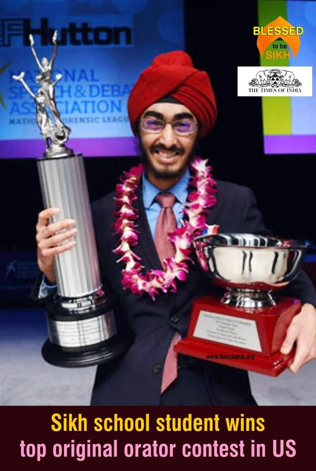 #BlessedtobeSikh  Sikh school student wins top original orator contest in US  JJ Singh Kapur, a Sikh student of Valley High School in West Des Moines, Iowa in US, won the 2017 National Speech and Debate Tournament in the category of original oratory -considered to be the most prestigious high school speech and debate competition in the US.  Read More http://barusahib.org/general/sikh-school-student-wins-top-original-orator-contest-in-us/  Share & Spread his great victory!