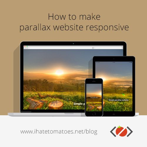How to make parallax scrolling website responsive
