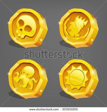 Стоковые вектора и векторный клип-арт Game Coin | Shutterstock