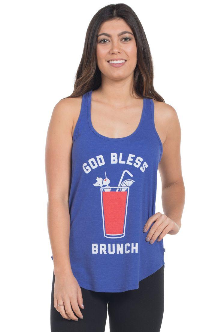 Women's God Bless Brunch Tank Top   Tipsy Elves