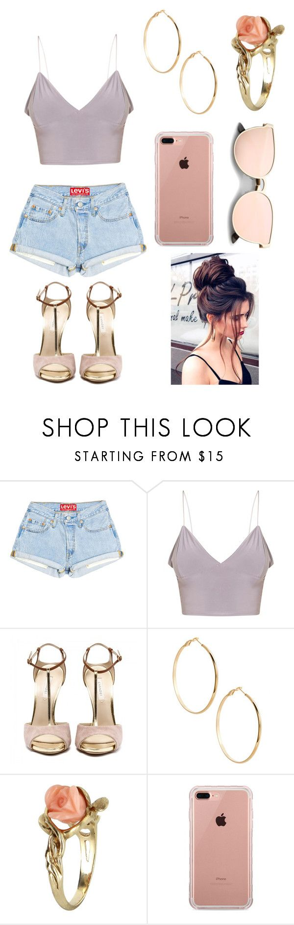"""""""Untitled #1"""" by liviacordeiroo ❤ liked on Polyvore featuring GUESS by Marciano, Vintage and Belkin"""