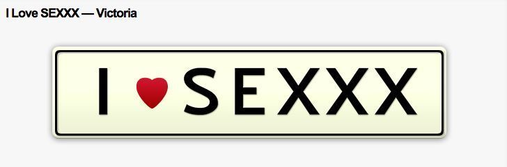 HOT !!  custom number plate I LOVE SEX !!