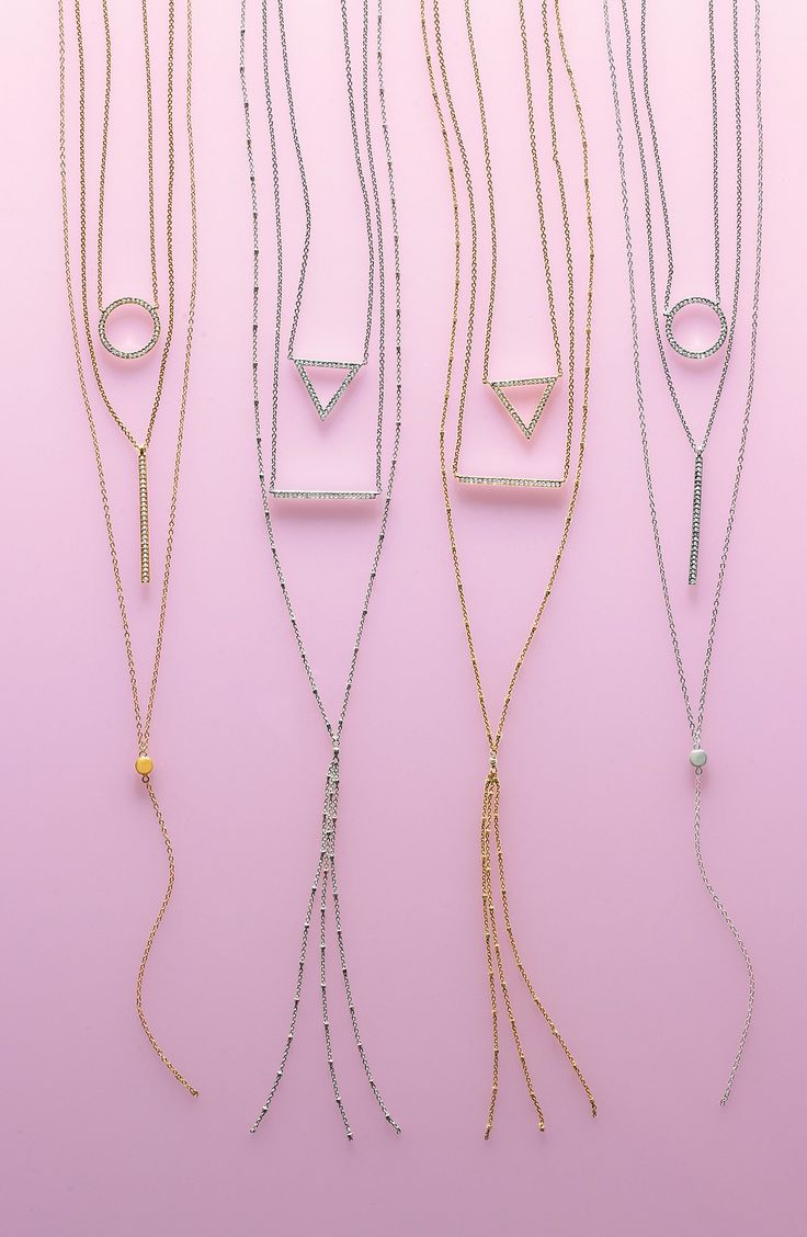 Layering sparkly jewelry this season | Nadri pendant necklaces.