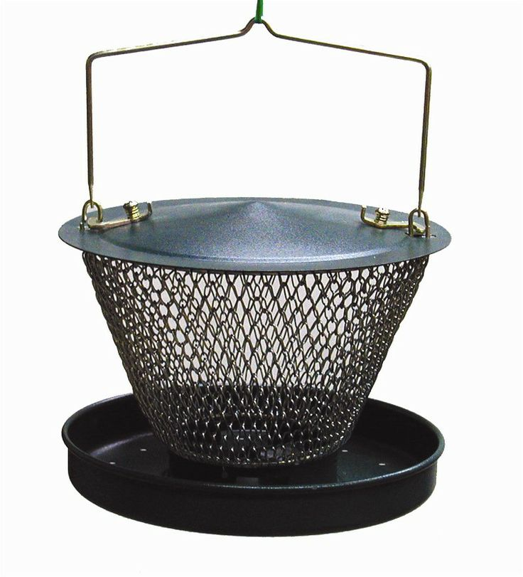 GUD00319  Metal NONO Feeder  Comes with a Feeding tray that can hold up to 1.1 lbs of black oil Sunflower seeds