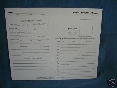 School Cumulative Transcript Folders, Student Pack of 6 Homeschool or School #RecordKeeping