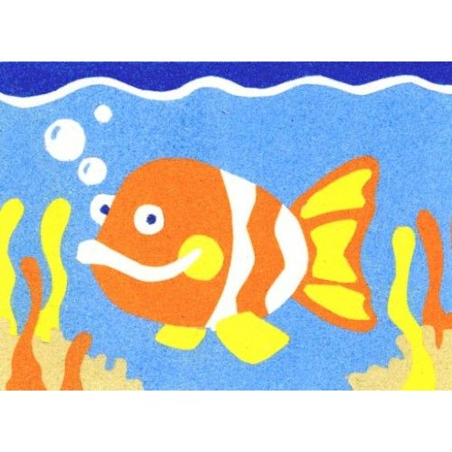 Peel 39 n stick sand art board 19 goldfish crafts sand for Sticky boards for crafts