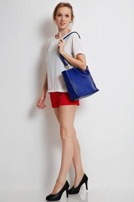 Marguerite bag #handbag #taswanita #bags #fauxleather #kulit #fashionable #stylish #totebag #colors #blue