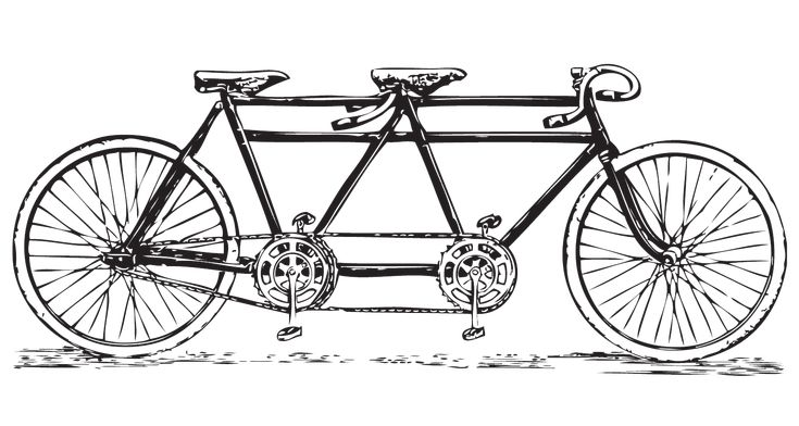 Free vintage tandem bicycle clip art... bicycle-built-for-2