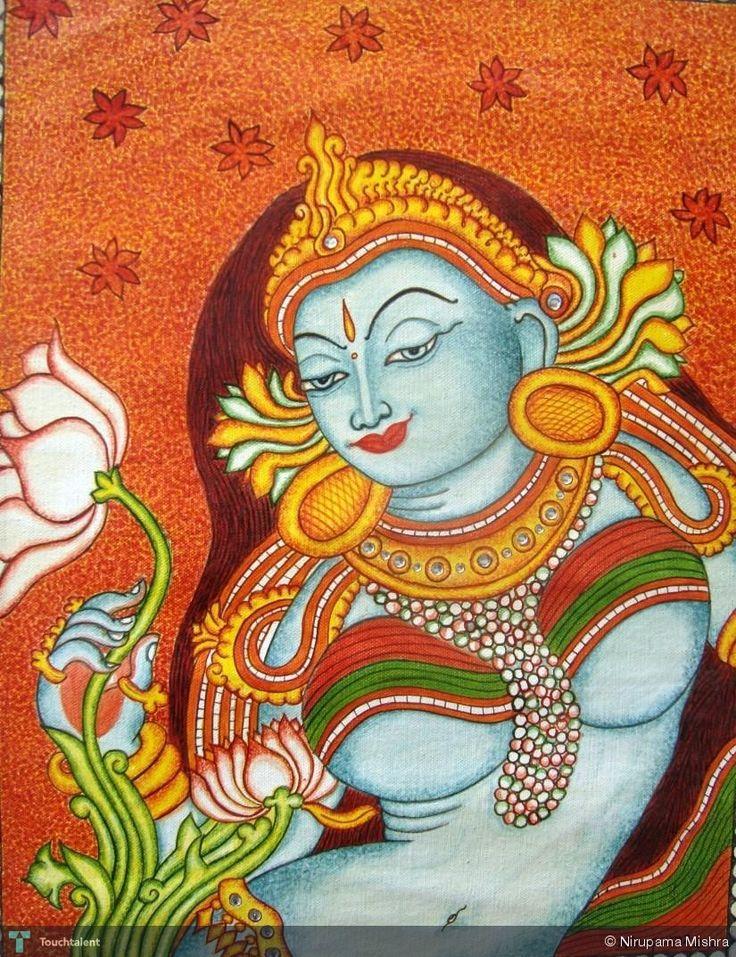 Apsara in Painting by Nirupama Mishra
