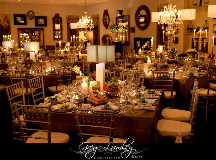 Table lighting wedding reception example