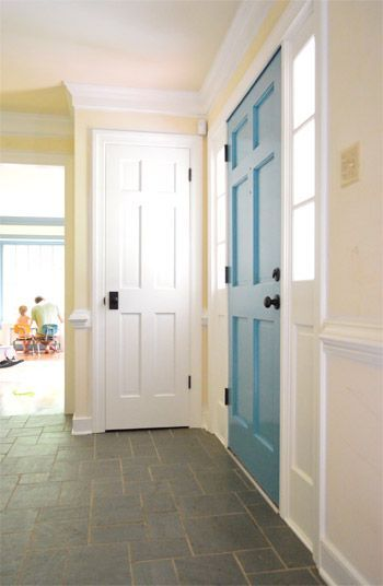 Painting The Back Of Your Front Door A Bold Color (give it a try!)