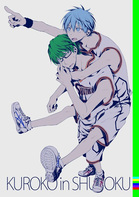 Touya (Artist), Kuroko no Basket, Kuroko Tetsuya, Midorima Shintarou, Shuutoku High, Shuutoku Basketball Uniform