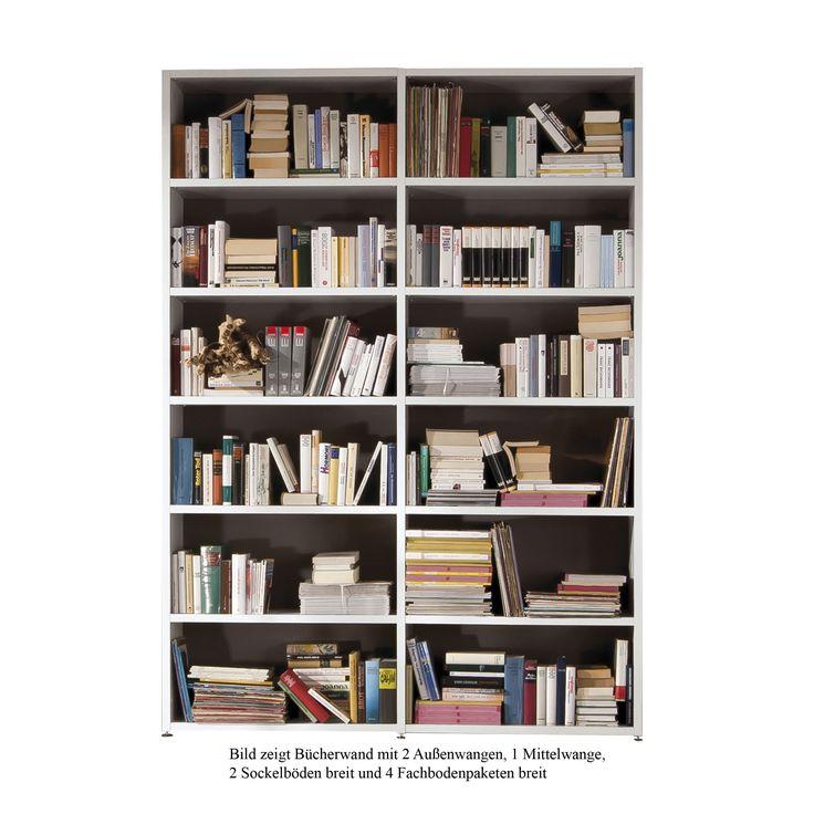 Bücherwand 2.1 Sockelboden schmal Eiche -  - A044448.000