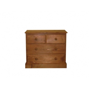 Portchester Pine Waxed 4 Drawer Chest (2 over 2)  www.easyfurn.co.uk