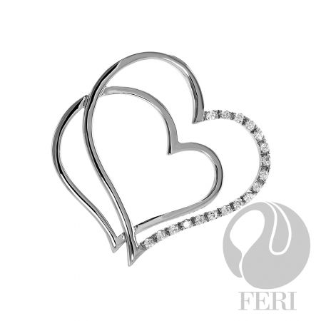 An amazing item from the FERI designer lines collection for $136 only. Message us to get 20% off.  Details - .925 fine sterling silver - 0.5 micron natural rhodium plating - Set with AAA white cubic zirconia  Our new customers enjoy a $15 shopping credit and upto 10% rebate on purchases.  We are also hiring and expanding our team so if you are looking to make some additional income on the side & be part of an exciting industry visit http://opportunity.feristore.com