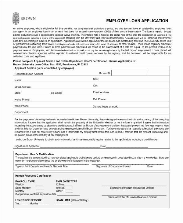 Loan Application Form Sample Unique Sample Employee Application Form 11 Free Documents In Pdf In 2020 Loan Application Application Form Loan