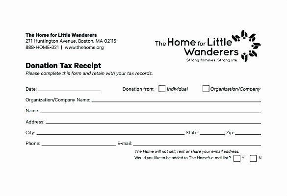 Non Profit Donation Card Template Fresh Donation Receipt Template Tax Sponsorship Non Cash Doc Donation Letter Donation Letter Template Receipt Template
