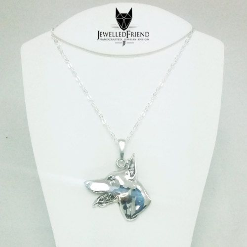 Check out Doberman jewelry pendant on jewelledfriend