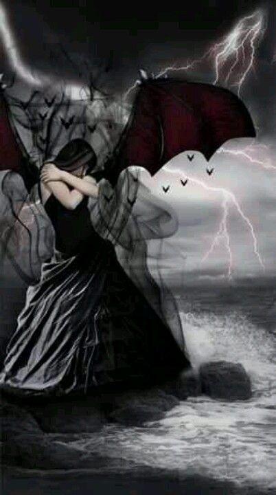 Dark Fallen Goth Gothic Angel Fantasy
