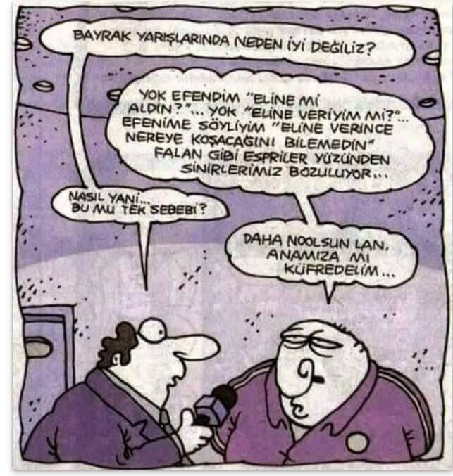Bayrak yarışının Türkiye'de gelişmeme sebebi