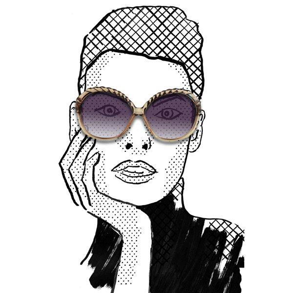 Linda, animation by Julia Kaiser #animation #animatedgif #gifanimation #eyewear #eyewearfashion