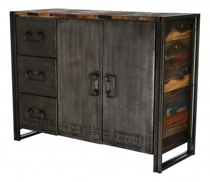 1000 id es sur le th me bahut industriel sur pinterest meuble style industriel buffet. Black Bedroom Furniture Sets. Home Design Ideas