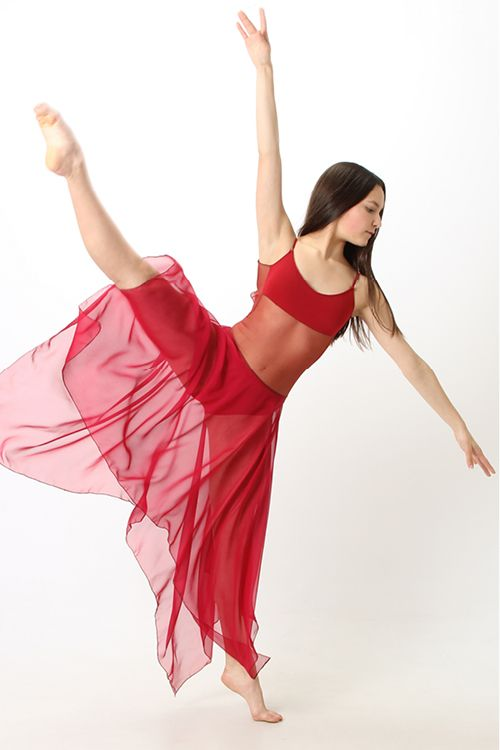 Audition Dancewear - Love this RED contemporary dance costume!!!